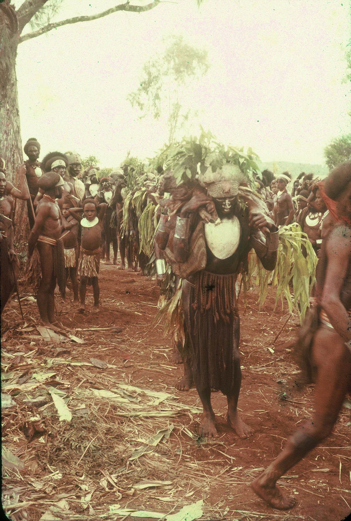 Men carrying pork to Andaalu Rimbu cult site (circa 1959)